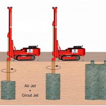 Струйная цементация грунтов (jet grouting), грунтоцементные сваи